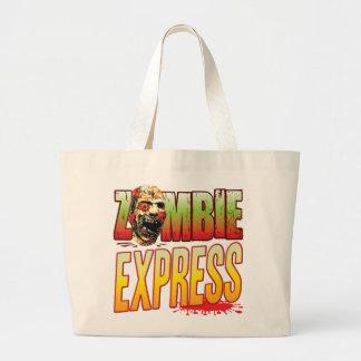 Express Zombie Head Canvas Bag