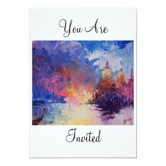 Expression of Venice You Are Invited 13 Cm X 18 Cm Invitation Card