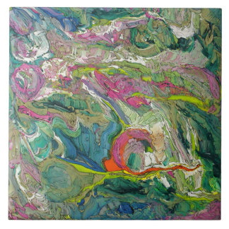 Expressionism Abstract Art Large Ceramic Tile