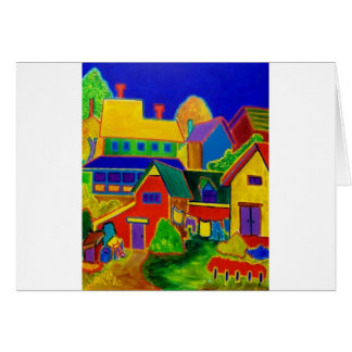 Expressionism Country 3 Greeting Card