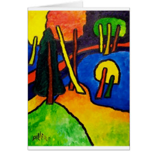Expressionism Forest Greeting Card