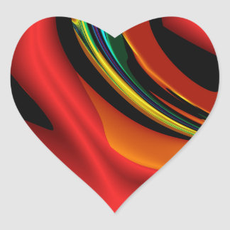 Expressionism Heart Stickers