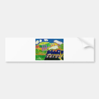 Expressionism train 4 bumper sticker