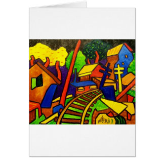 Expressionism Train 4 Greeting Card