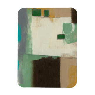 Expressionist Painting with Heavy Brush Strokes Rectangular Photo Magnet