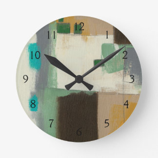 Expressionist Painting with Heavy Brush Strokes Wallclock