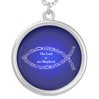 Expressions Faith   Christian Fish Symbol All-Over Silver Plated Necklace