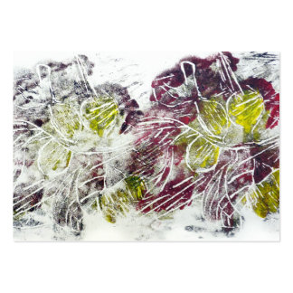 Expressive Abstract. Autumn Leaves. Pack Of Chubby Business Cards