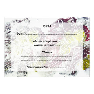 Expressive Abstract Autumn Leaves Invites