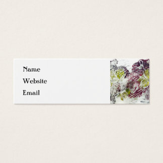 Expressive Abstract. Autumn Leaves. Mini Business Card