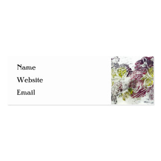 Expressive Abstract. Autumn Leaves. Pack Of Skinny Business Cards