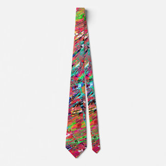 Expressive Abstract Grunge Tie