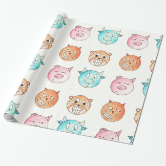 Expressive Animals Wrapping Paper