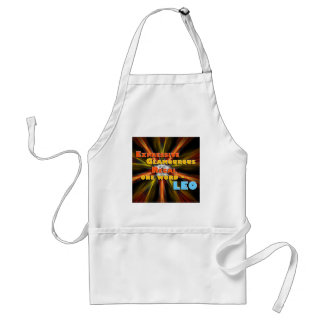 Expressive, Glamourous, Regal  - one word - LEO! Apron