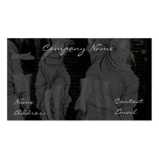 Expressive Ladies of Fashion In grey Business Card