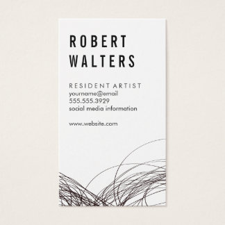 Expressive Line Work Business Card