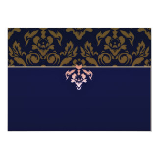 Expressive maroon damask pattern announcements