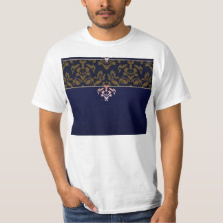 Expressive maroon damask pattern t-shirt