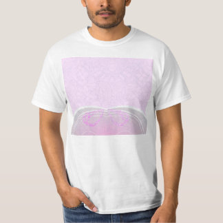 Expressive pink and grey damask wedding gift tshirts