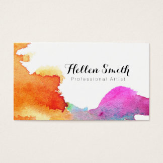 Expressive Watercolor Business Card