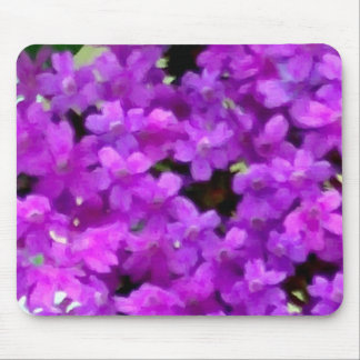 Expressive Wildflowers Purple Flowers Floral Mousepads