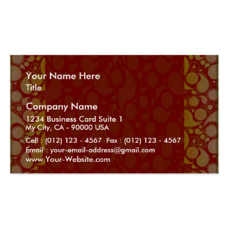 Expressive yellow art work on red texture business cards