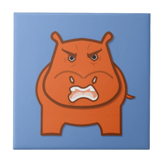 Expressively Playful Jack bondswell Mascot Ceramic Tile