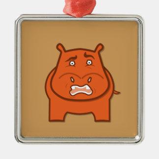 Expressively Playful Jack bondswell Mascot Metal Ornament