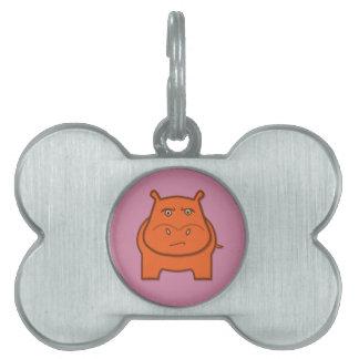 Expressively Playful Jack bondswell Mascot Pet Name Tag