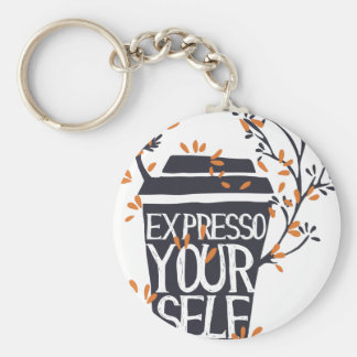 expresso your self key ring