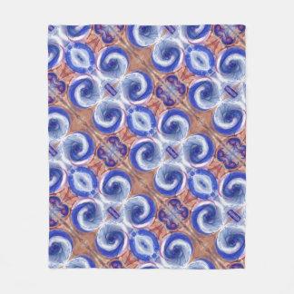 Exquisite Blue Rolling Waves design Fleece Blanket