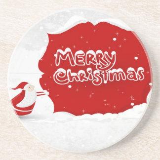 Exquisite Christmas illustration design Drink Coaster