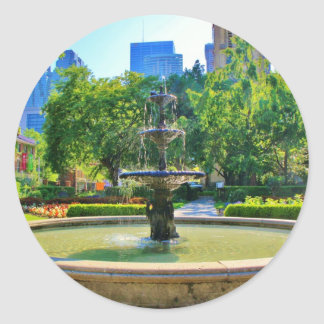 Exquisite Fountain in a Park Classic Round Sticker