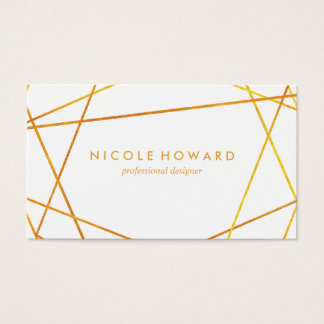 Exquisite Gold Lines Business Card