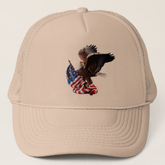 Exquisite Hat - American Flag  and Eagle