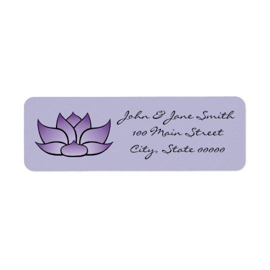 Exquisite Lotus in Purple Return Address Label