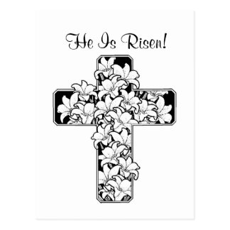 Exquisite! Rejoice - He is Risen Card Postcard