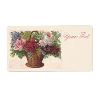Exquisite vintage flowers illustration Labels