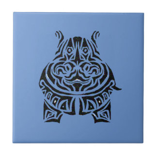 Exquisitely Playful Tribal Tattoos Small Square Tile