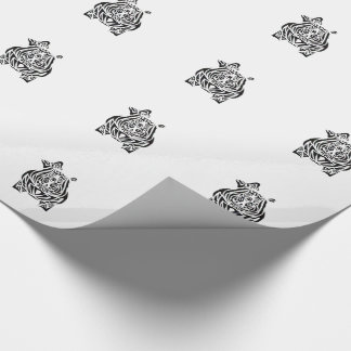 Exquisitely Playful Tribal Tattoos Wrapping Paper