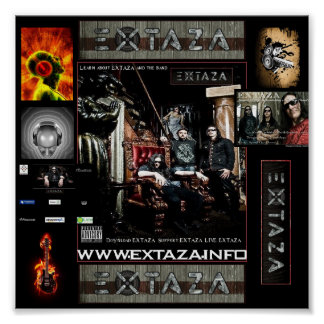 EXTAZA COLLAGE POSTER