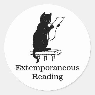 Extemporaneous Reading 20 ct sticker sheet