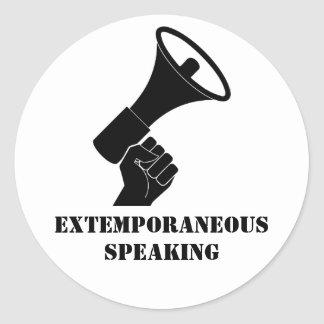 Extemporaneous Speaking 20 ct stickers