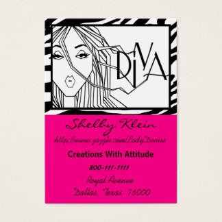 """Extensions of DIVAtude"" Chubby Business Cards"