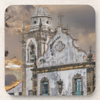 Exterior Facade Antique Colonial Church Olinda Coaster