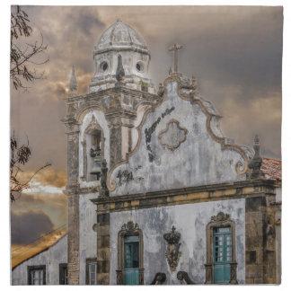 Exterior Facade Antique Colonial Church Olinda Napkins