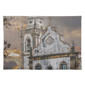 Exterior Facade Antique Colonial Church Olinda Placemat