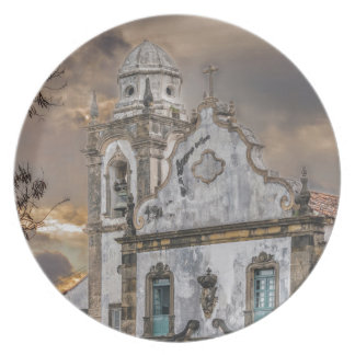 Exterior Facade Antique Colonial Church Olinda Plate