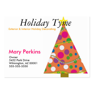 Exterior & Interior Holiday Decorating Pack Of Chubby Business Cards