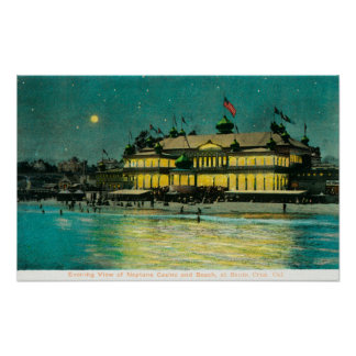 Exterior Night View of the Neptune Casino & Poster